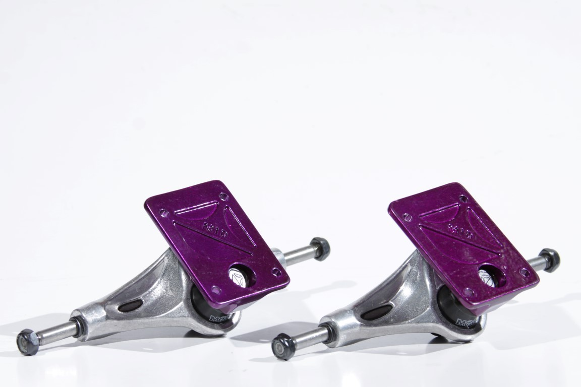 Truck Crail - Mid 136 Solid Logo Purple/Silver  - No Comply Skate Shop