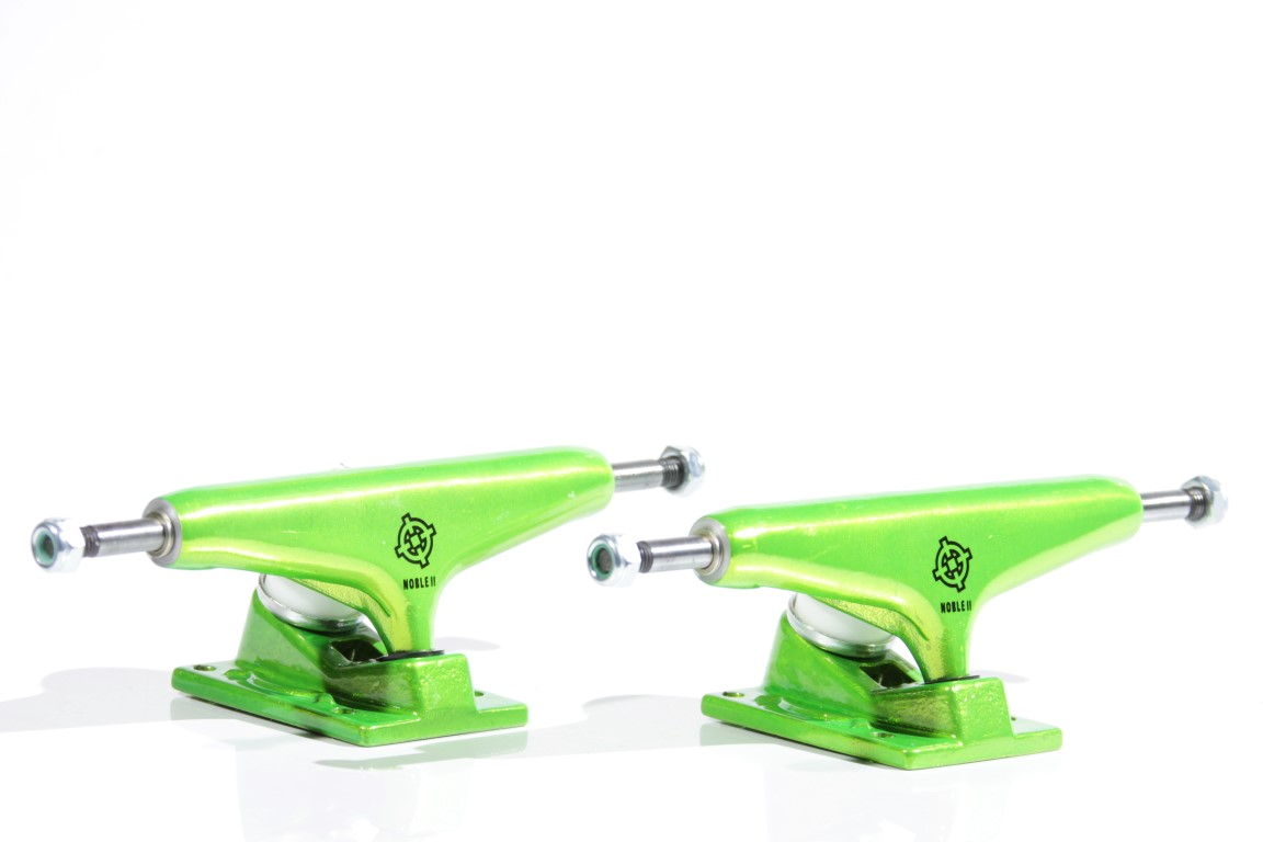 Truck Intruder - 139 Mid Noble II Green Neon  - No Comply Skate Shop