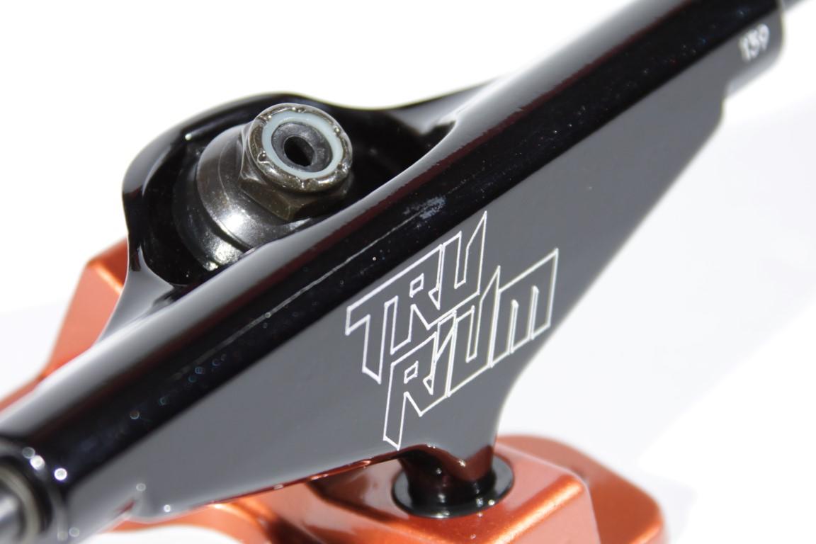 Truck Trurium - 139 Low Preto/Laranja  - No Comply Skate Shop