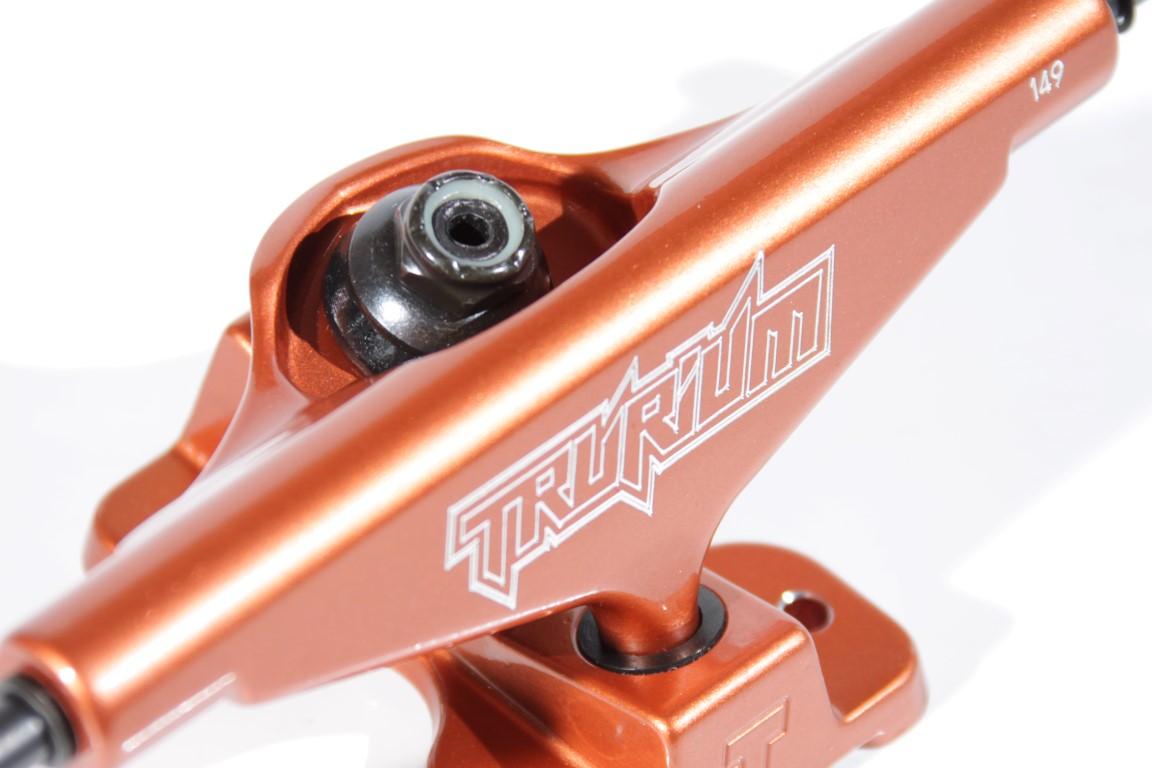 Truck Trurium - 149 Mid Laranja  - No Comply Skate Shop