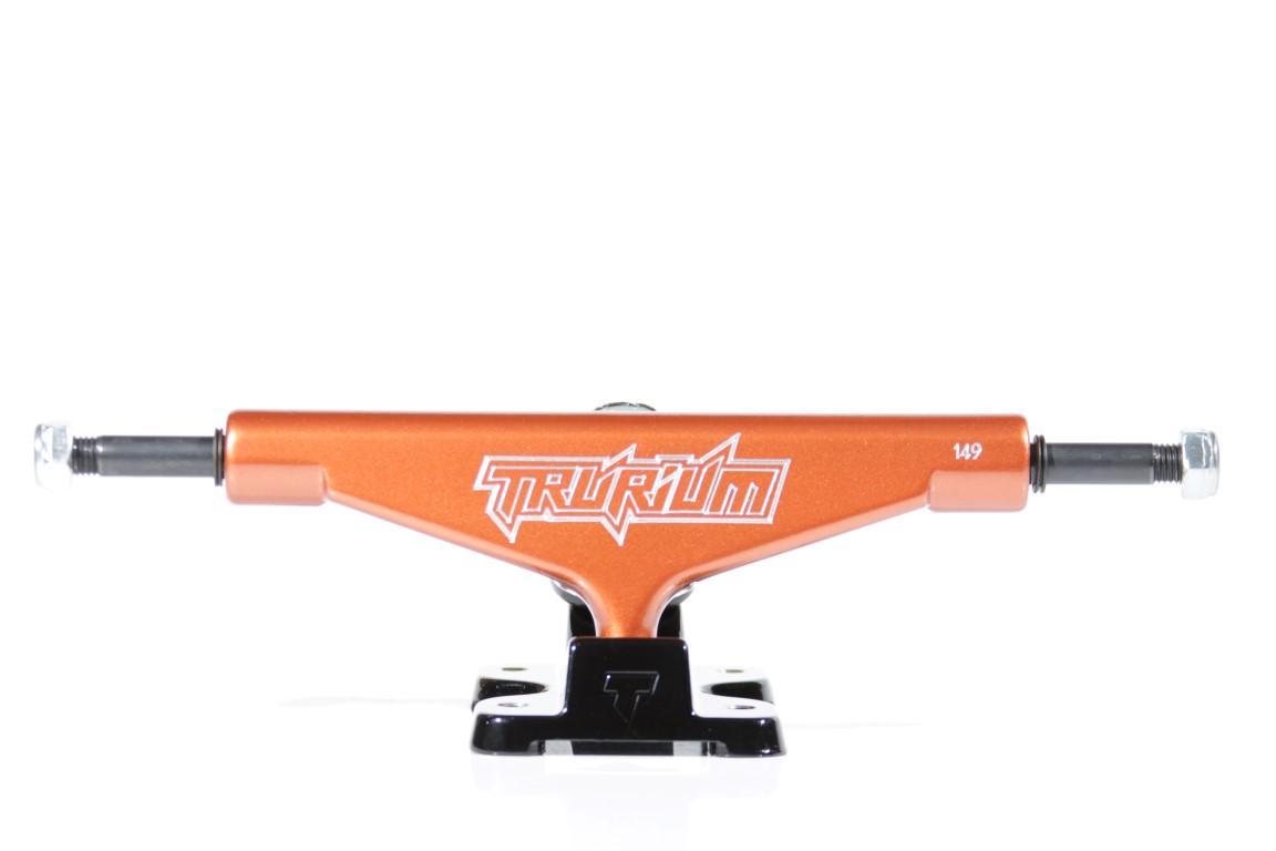 Truck Trurium - 149 Mid Laranja/Preto  - No Comply Skate Shop