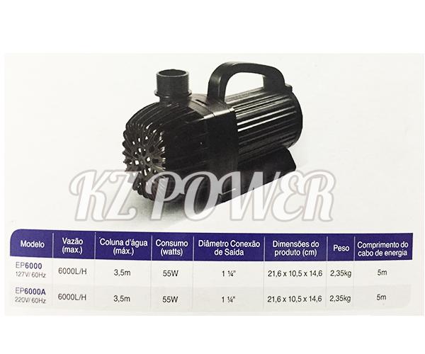 Bomba Recalque eletronica Mydor Ecco 6000 L/h. 220v.  - KZ Power