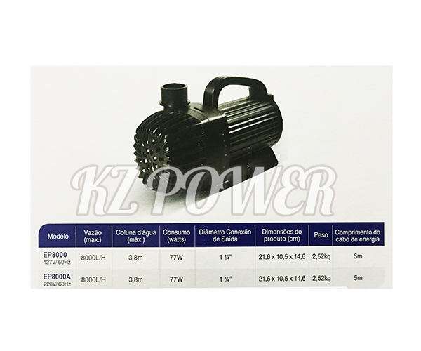 Bomba Recalque eletronica Mydor Ecco 8000 L/h. 220v.  - KZ Power