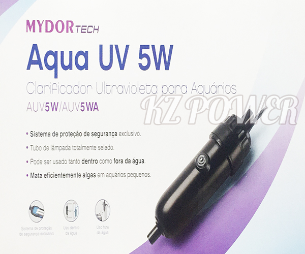 Filtro UV Mini Ultra Violeta 5w Mydor 220v. Interno ou Externo - KZ Power