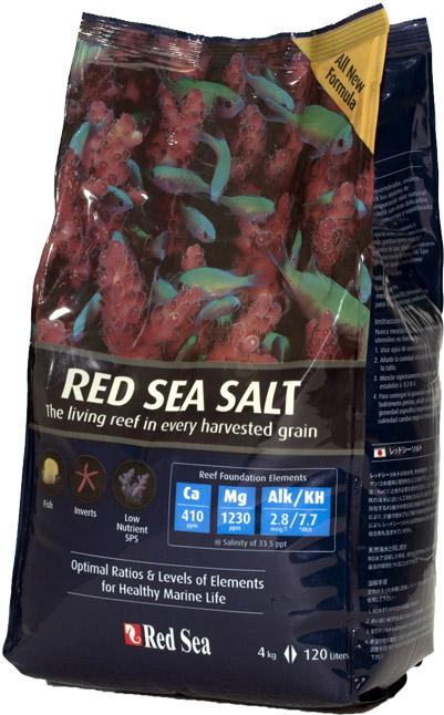 Sal Red Sea Salt 4Kg Saco Nova Fórmula Faz 120 litros  - KZ Power