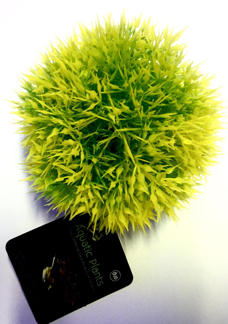 Planta Artificial P/ Aquarios Musgo Ball Amarelo 9cm Soma 050600  - KZ Power