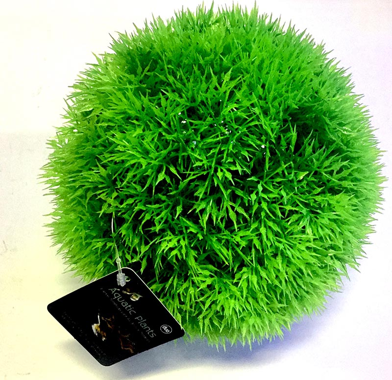 Planta Artificial P/ Aquarios Musgo Ball Verde 17cm Soma 071004  - KZ Power