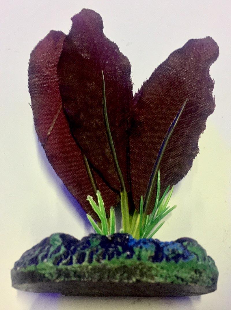 Planta Artificial P/ Aquarios Silk Echinodorus Vermelha 4cm Soma 064531  - KZ Power