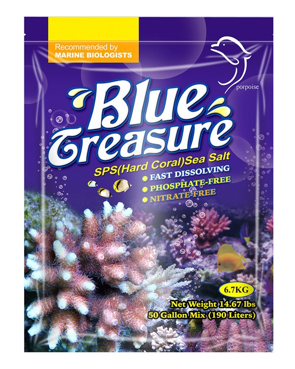 Sal Blue Treasure SPS 6,7 Kg aquario Marinnho,reef,corais  - KZ Power