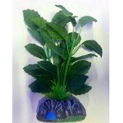 Planta Artificial P/ Aquarios Silk Echinodorus Cordifolius 13cm Soma 071007