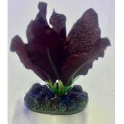 Planta Artificial P/ Aquarios Silk Echinodorus Vermelha 4cm Soma 064531