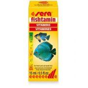 Sera Fishtamin 15ml Complexo De Vitaminas P/ Todos Os Peixes