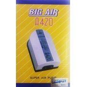 Compressor De Ar Big Air A420 p/ Aquários- 2 Saidas 127v.