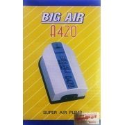 Compressor De Ar Big Air A420 p/ Aquários- 2 Saidas 220v.