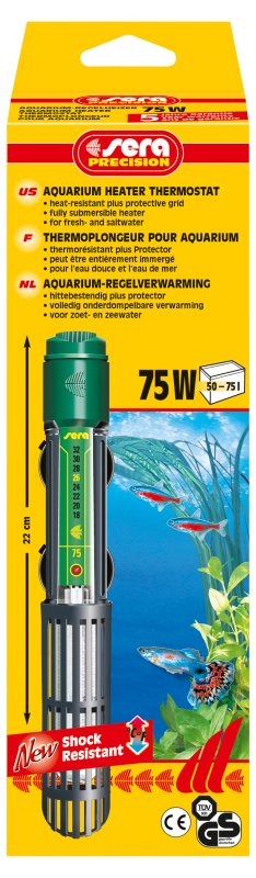 Termostato com aquecedor Sera 75w. 110v.  - KZ Power