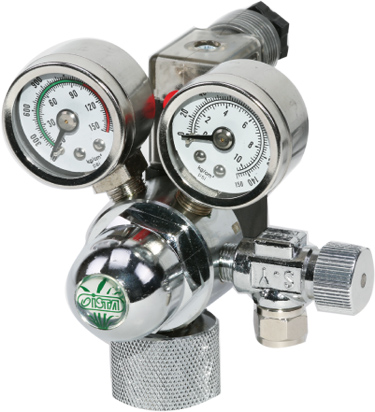 Valvula C/ 2 manometros e solenoide ista 110v. I-580  - KZ Power