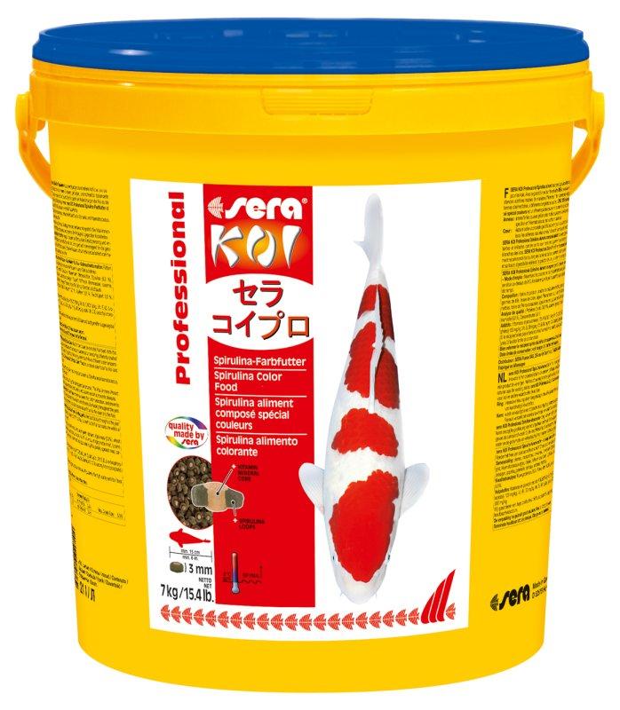 Ração sera KOI Professional alimento colorante de Spirulina 7kg  - KZ Power