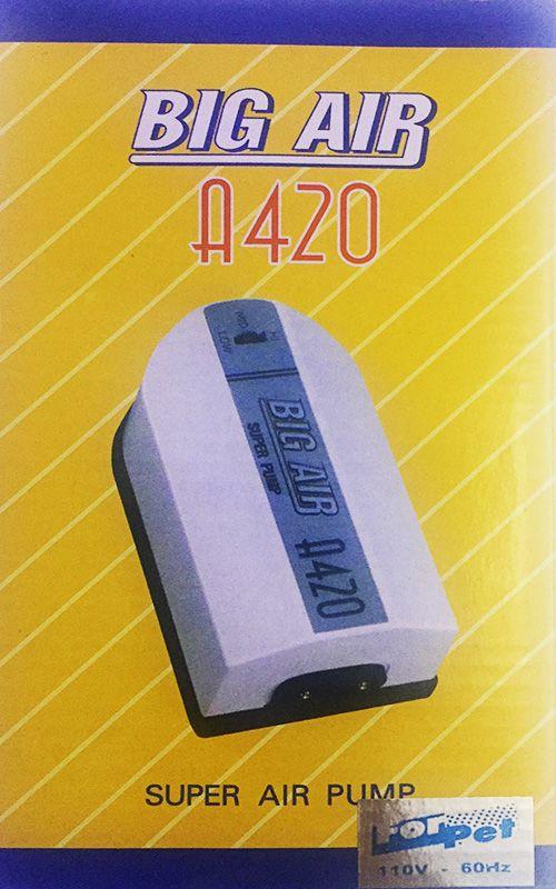 Compressor De Ar Big Air A420 p/ Aquários- 2 Saidas 127v.  - KZ Power