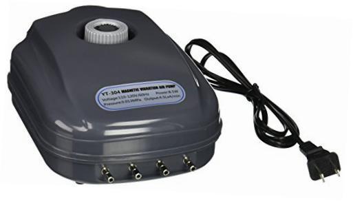 Compressor De Ar SunSun YT-304 P/ Aquario 4 Saidas  127v.  - KZ Power