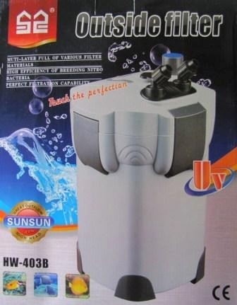 Filtro Canister Sunsun Hw 403b c/ Uv 9w 1400 L/h 127v. - KZ Power