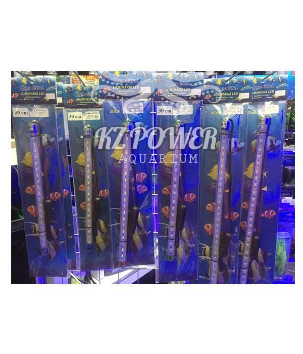 Luminaria Led Aqualumi Branca / Azul 45cm + Fonte Bivolt  - KZ Power