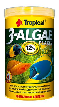 RAÇÃO 3-ALGAE FLAKES 50gr TROPICAL  - KZ Power