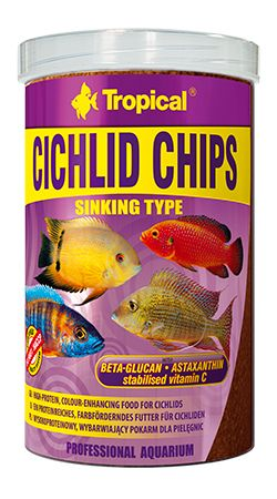 RAÇÃO CICHLID CHIPS 130gr TROPICAL  - KZ Power
