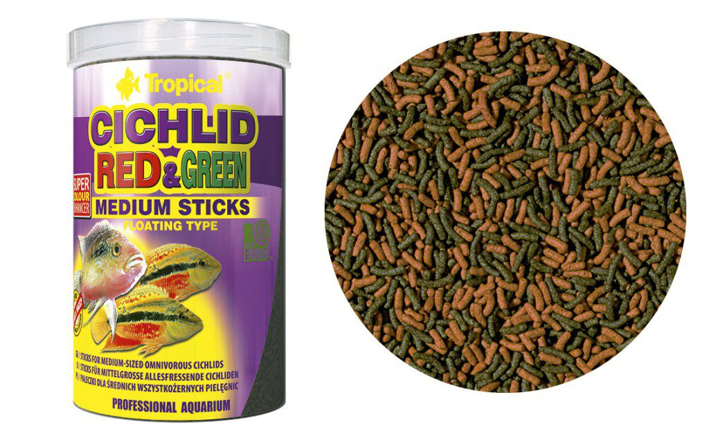 RAÇÃO CICHLID RED & GREEN (MEDIUM STICKS) 90gr TROPICAL  - KZ Power