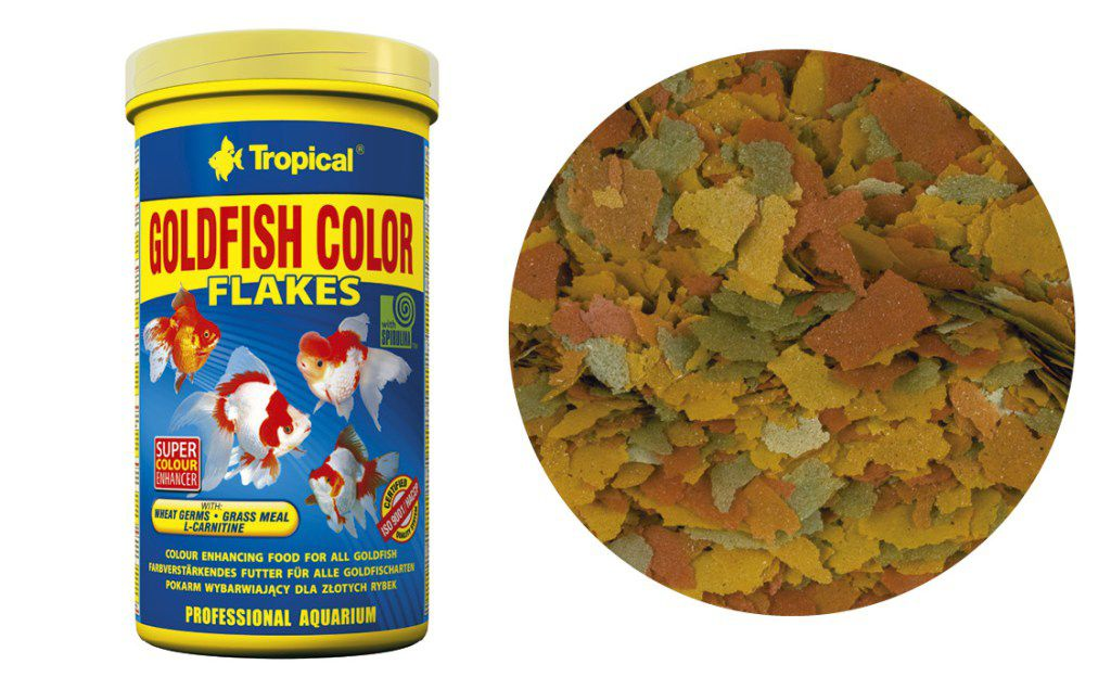 RAÇÃO GOLDFISH COLOR FLAKES 50gr TROPICAL  - KZ Power
