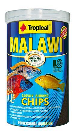 RAÇÃO MALAWI CHIPS 130gr TROPICAL  - KZ Power