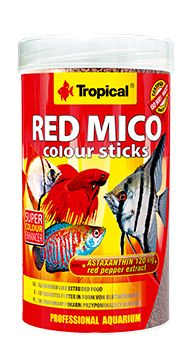 RAÇÃO  RED MICO COLOUR STICKS 80gr TROPICAL  - KZ Power