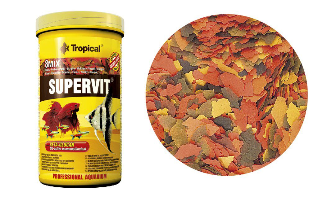 RAÇÃO SUPERVIT FLOCOS 20gr + 25% TROPICAL  - KZ Power