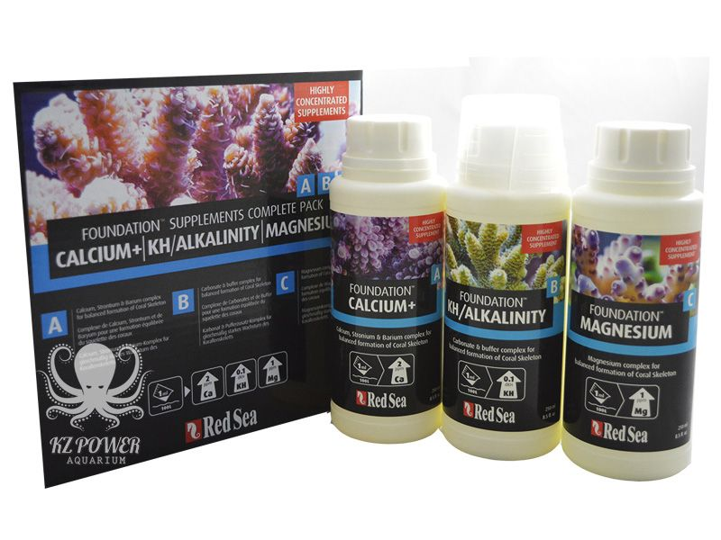 Suplemento Reef Foundation A/b/c Pack 3x250ml Red Sea  - KZ Power