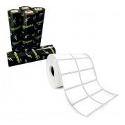 Kit 10 Rolos Etiqueta 50x30 Mm 2 Colunas + 5 Ribbons Cera