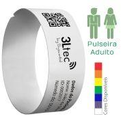 Rolo de Pulseiras de Identificação Hospitalar e Eventos - ADULTO - 200 unidades