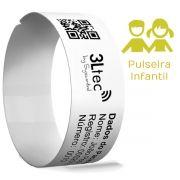 Rolo de Pulseiras de Identificação Hospitalar - INFANTIL - 300 unidades