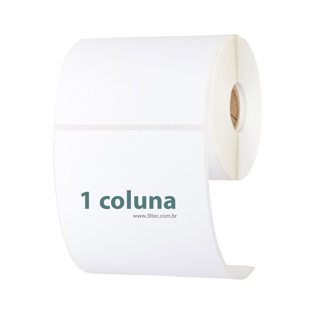 Etiquetas Adesivas - Rolo de 40 metros - 1 coluna, Faturamento minimo de 10 rolos