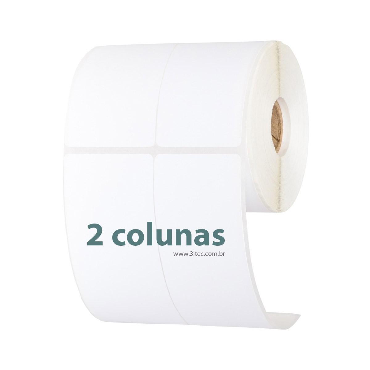 Etiquetas Adesivas - Rolo de 40 metros - 2 colunas