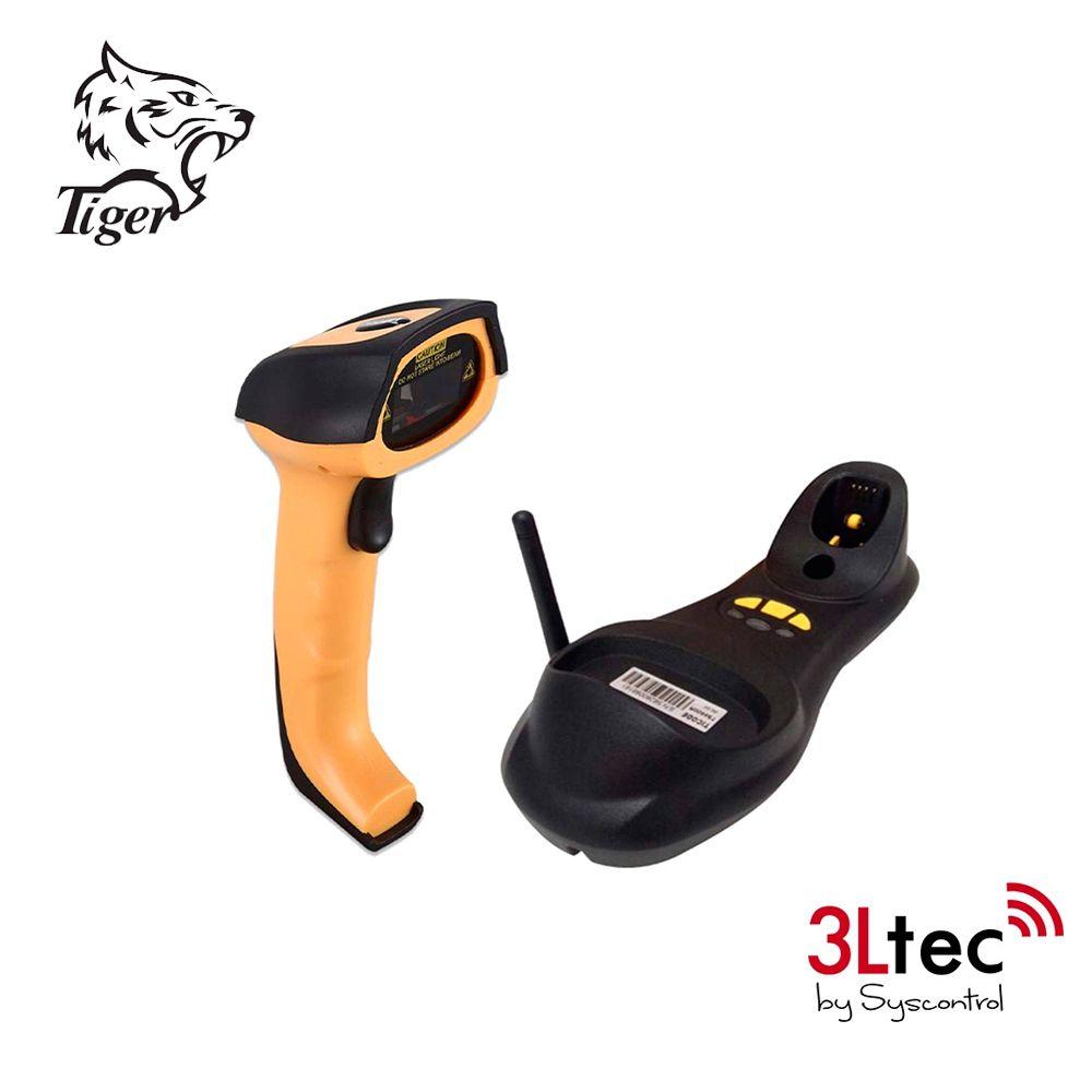Leitor de Código de Barra A-Imager 1D/2D TI 4520HP RF 433MHz, Industrial de Alta Performance com Base RF, Cabo USB, Leitura até 150m Base Wireless, Omnidirecional