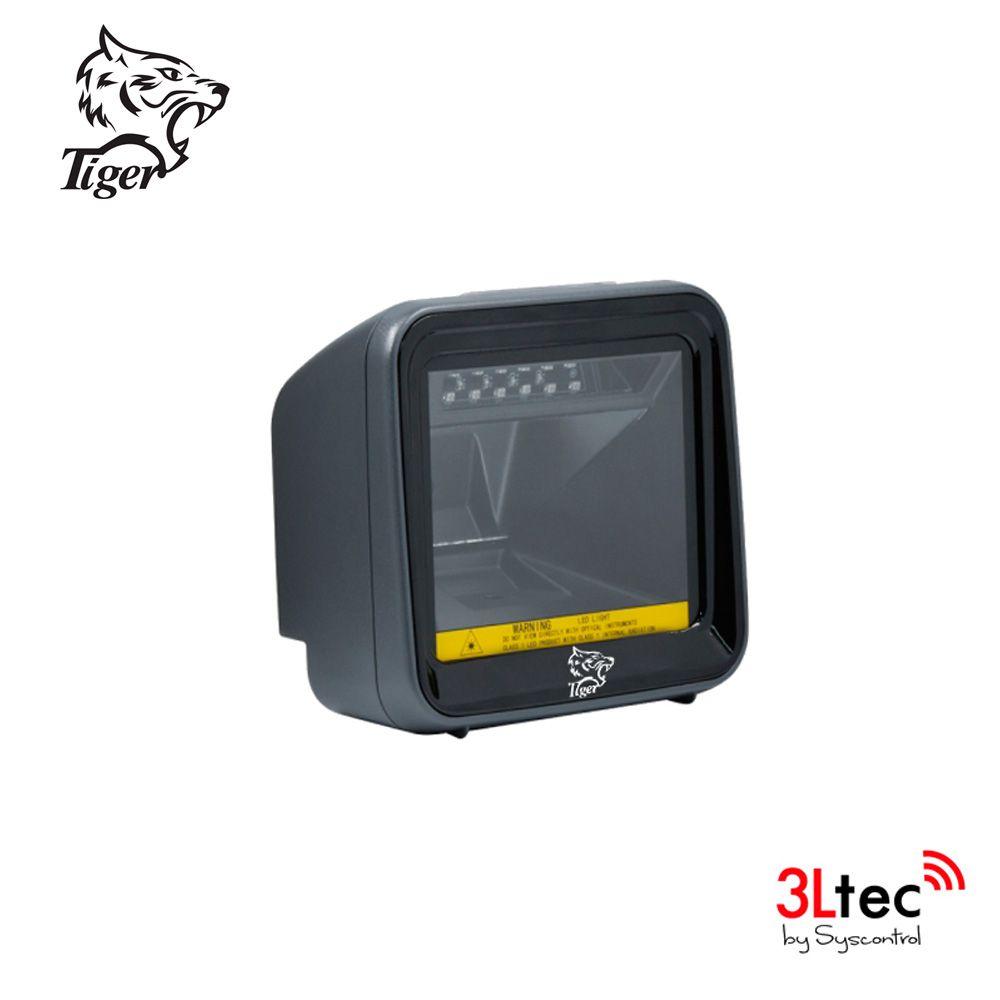 Leitor de Código de Barras Fixo 1D/2D TIGER, TI 7000, cabo USB Incluso