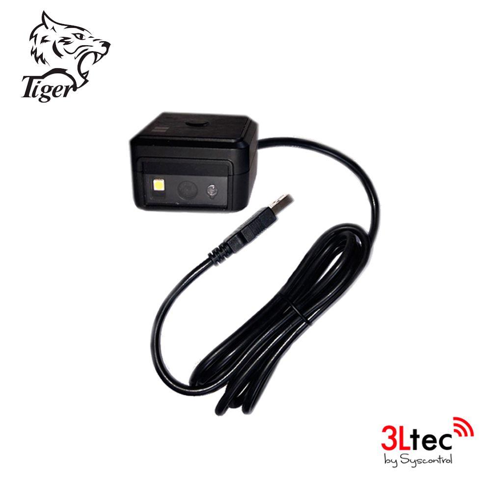 Leitor de Código de Barras Fixo Industrial 1D/2D TIGER TI 20D, Alta Performance, com cabo USB