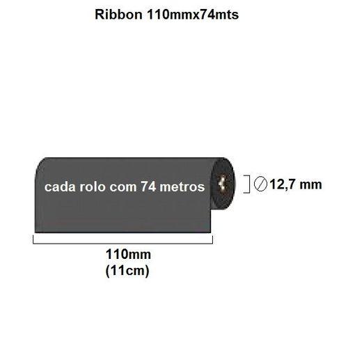 Ribbon de Cera 110mm x 74m - Armor- Faturamento mínimo 10 unidades