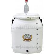 Bombona Fermentadora Com Medição Completa (com Torneira Simples, Airlock e Anel de Silicone)