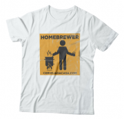 "Camiseta ""Homebrewer"" (branca)"