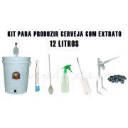 Kit de Equipamentos para Produção de Cerveja com Extrato - até 12 Litros