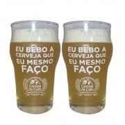 """Par de Copos Half Pint """"Eu bebo a cerveja que eu mesmo faço"""" 285ml"""