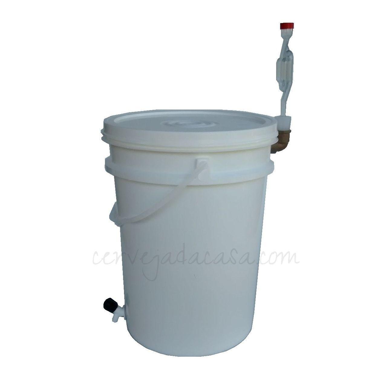 Balde Fermentador 12L Completo (Airlock Lateral)  - Cerveja da Casa