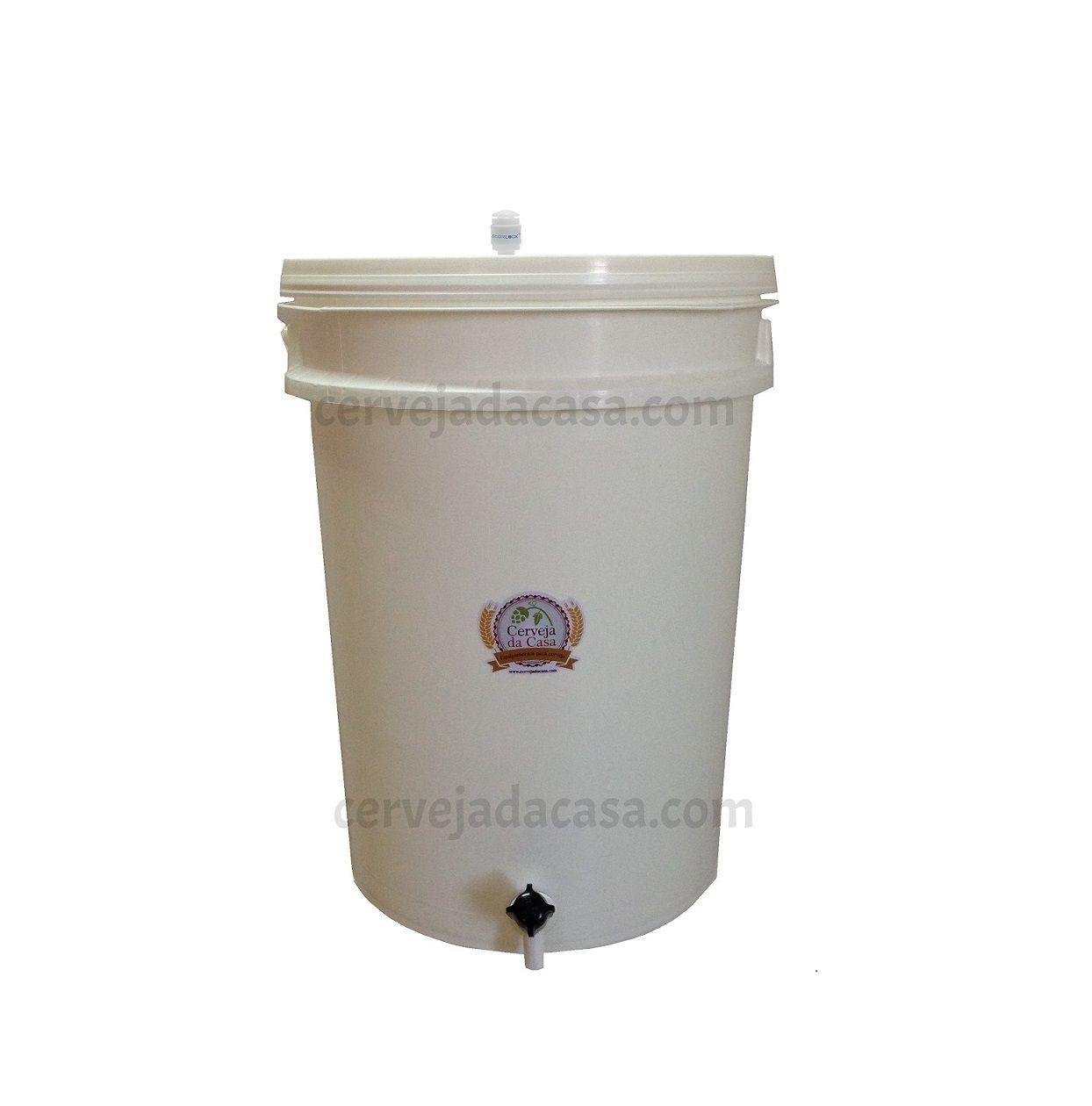 Balde Fermentador 12 Litros com Torneira, Sterilock e Anel de Silicone  - Cerveja da Casa