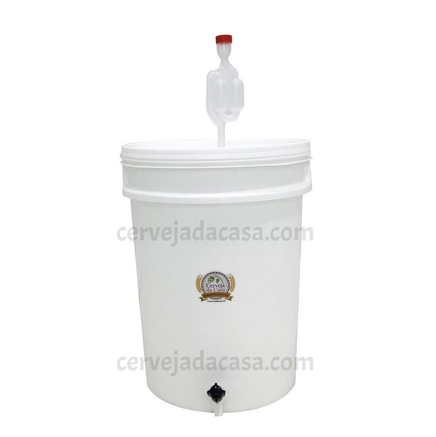 Balde Fermentador 22 Litros com Torneira, Airlock e Anel de Silicone