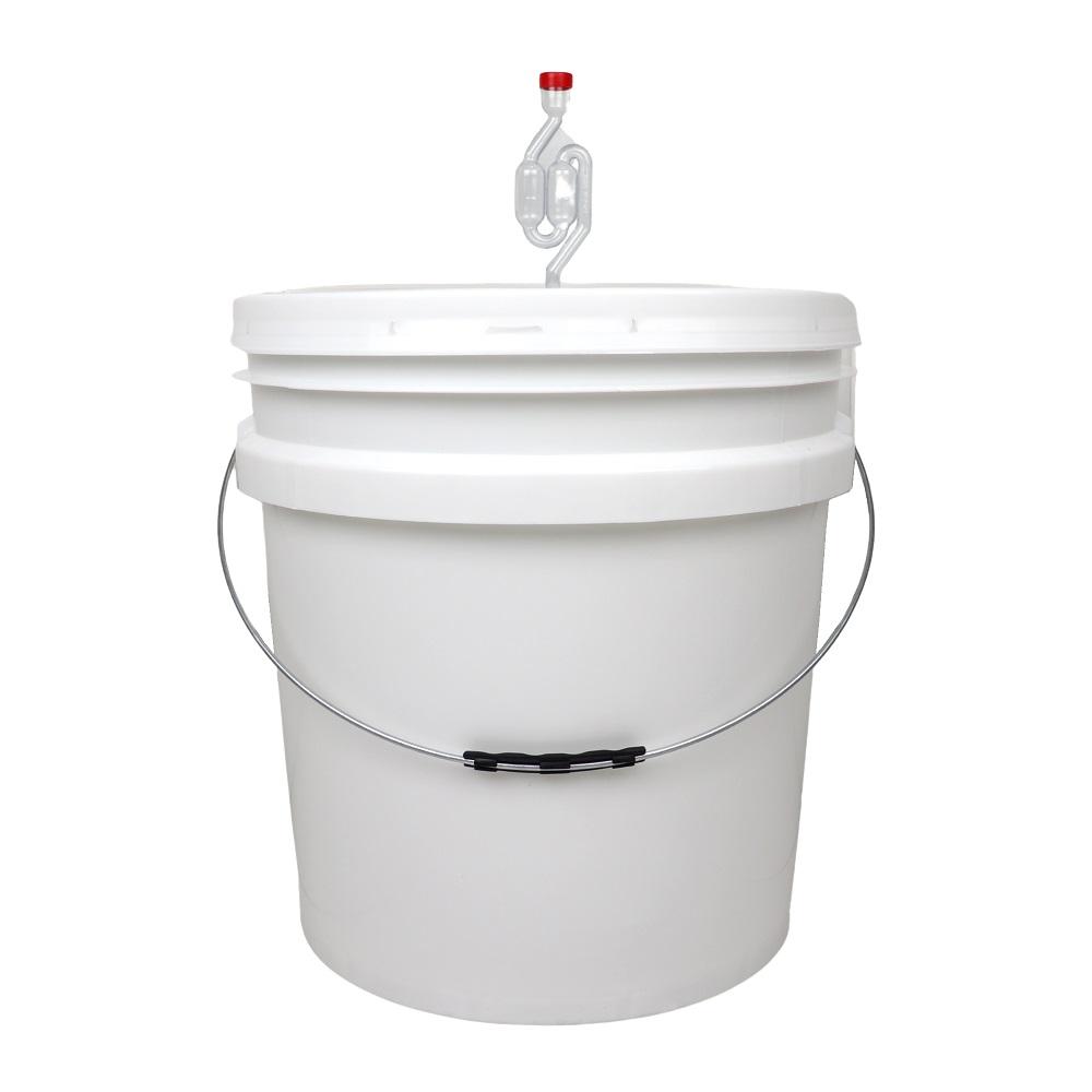 Balde Fermentador 30L com Torneira Anti-resíduos, Airlock e Anel de Silicone